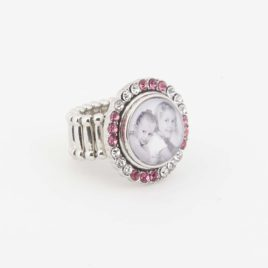Verstelbare Ring maat M met foto drukker