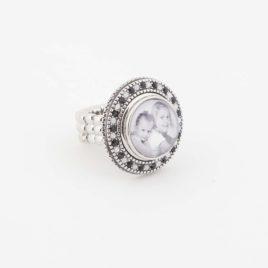 Verstelbare Ring maat L met foto drukker