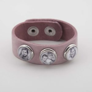 roze foto chunk armband