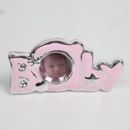 Fotolijstje baby roze