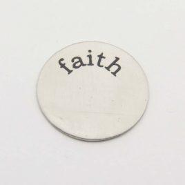 Wensmunt faith voor 30mm medaillon