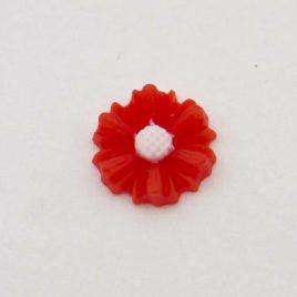 Zwevende bedel bloem rood