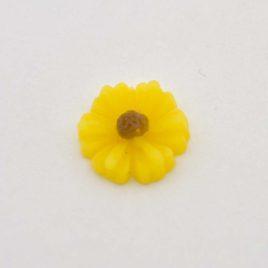 Zwevende bedel bloem geel