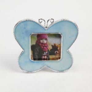 Fotolijstje vlinder blauw