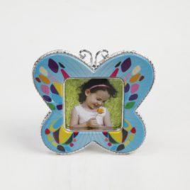 fotolijstje vlinder blauw met kleuren