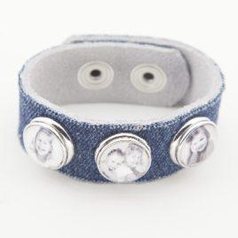 Leren Foto Armband Jeans __________
