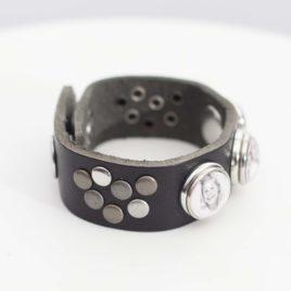 Leren Foto Armband Zwart Chuds