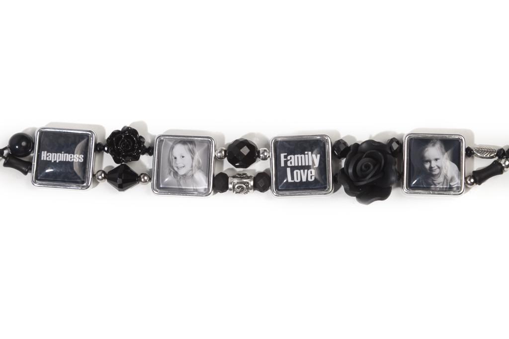 Kralen Foto Armband Zwart 01