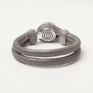 Chunk foto armband grijs bruin 02