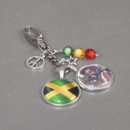 Sleutelhanger Jamaica met 2 ronde foto bedels