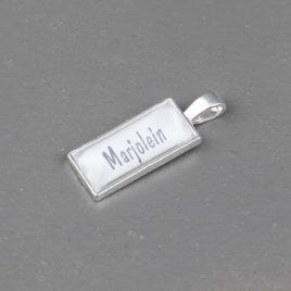 Foto hanger rechthoekig zilverkleurig