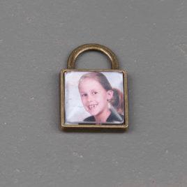 Foto bedel vierkant brons