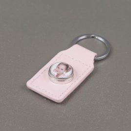 Foto sleutelhanger roze