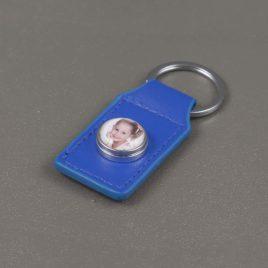 Foto sleutelhanger blauw