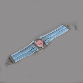 Infinity foto armband blauw