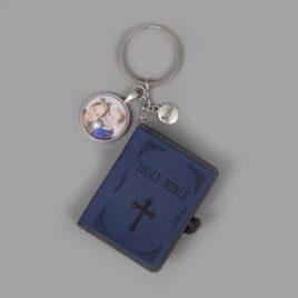 Bijbel sleutelhanger blauw